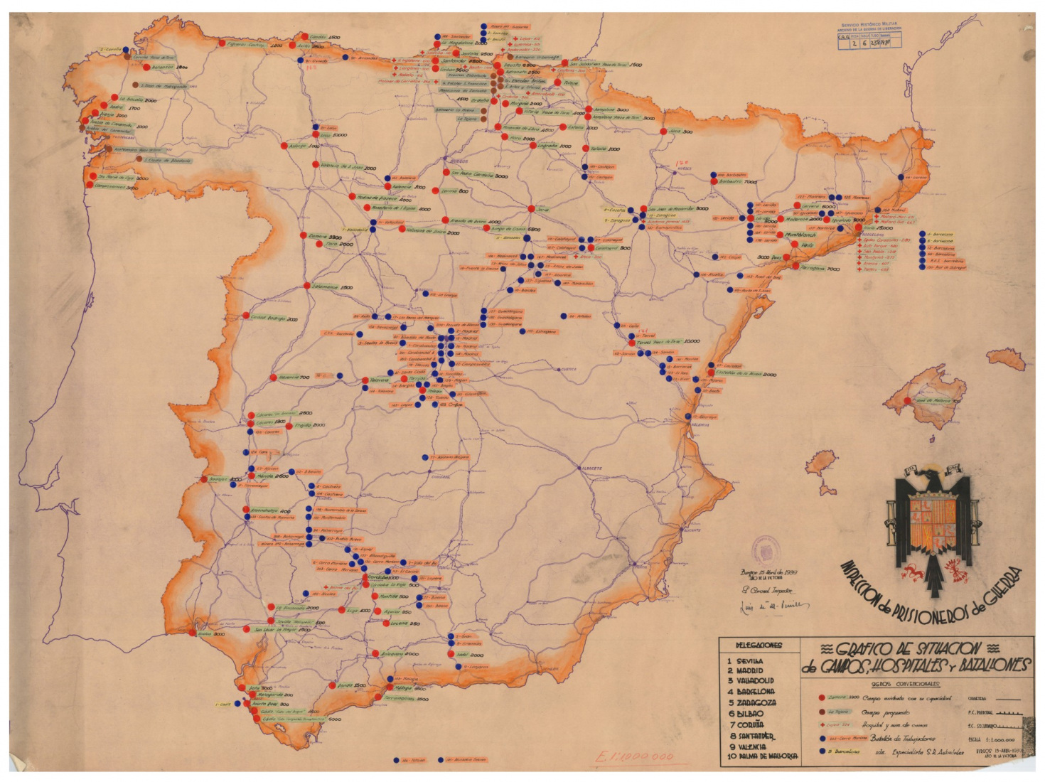 Concentration- and Labour Camps in Franco Spain 1939