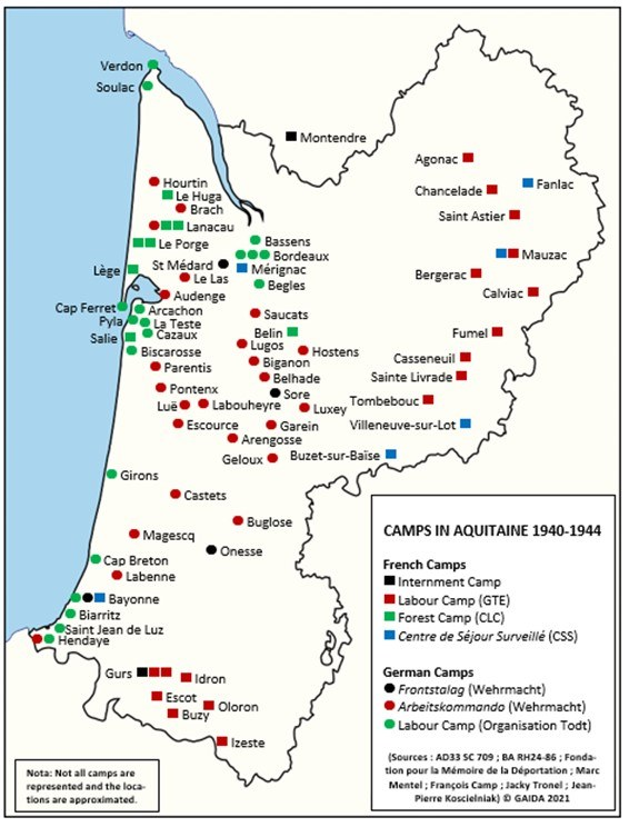 Camps in Aquitaine 1940-1944