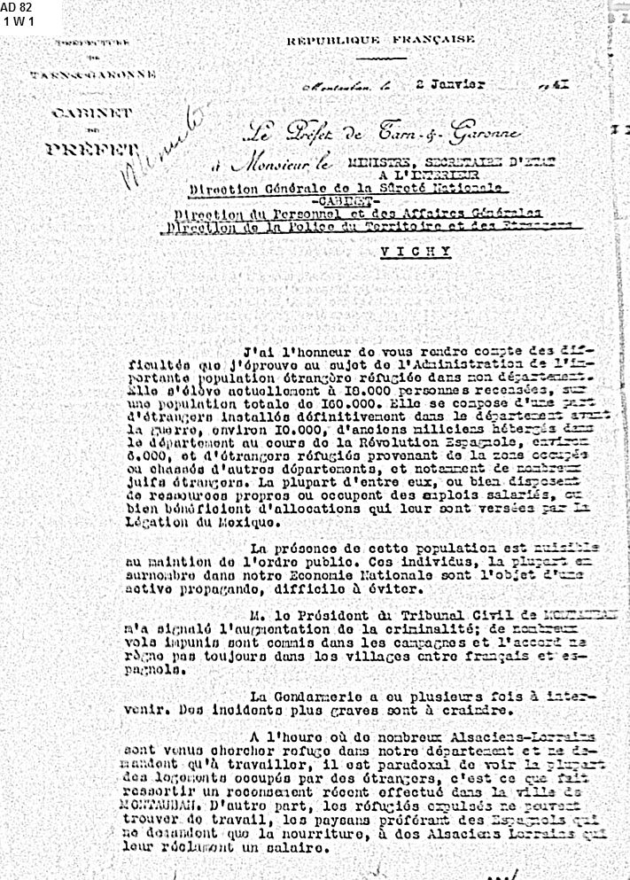 Septfonds-Etrangers-janvier-1941