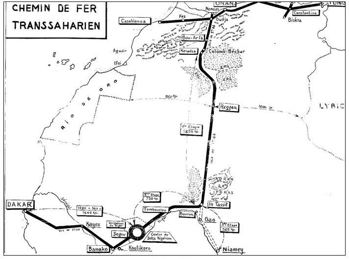 Transsaharian Railway Plan 1941
