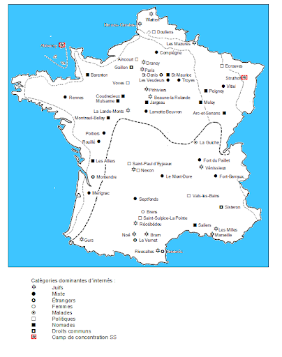 Main Camps in France 1940-1944